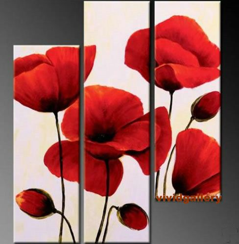 One day I'll attempt to recreate this modern poppy flower painting...