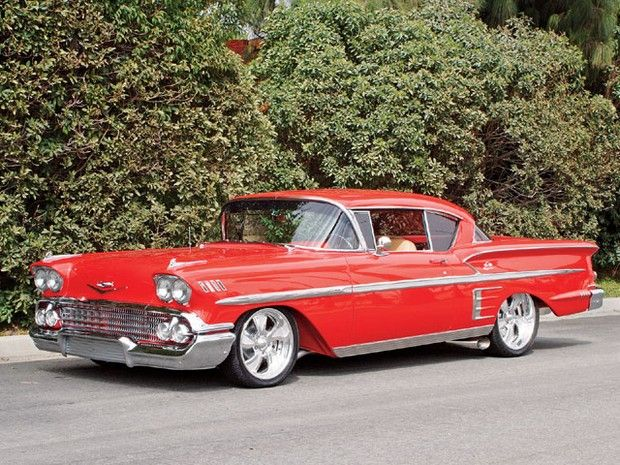 1958 Chevrolet Impala...Im not a Chevy fan, but if possible, this would be my favorite one to have