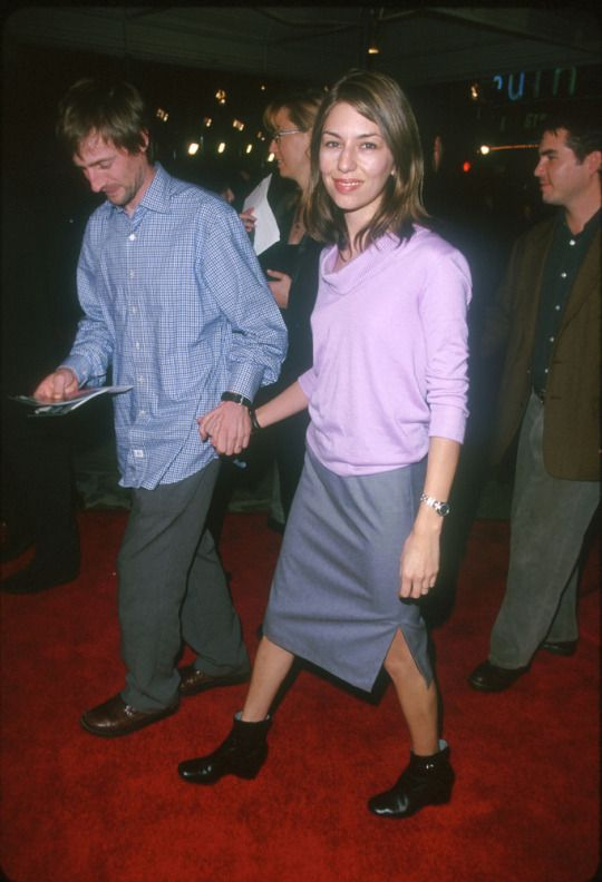 Sofia Coppola and Spike Jonze at the premiere of Fight Club (1999)