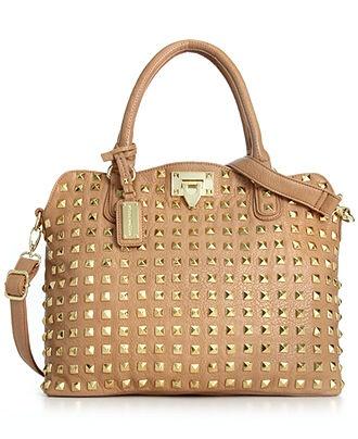 Steve Madden Handbag, Bdarby Studded Satchel - Handbags & Accessories - Macy's