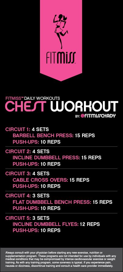 FitMiss Chest Workout