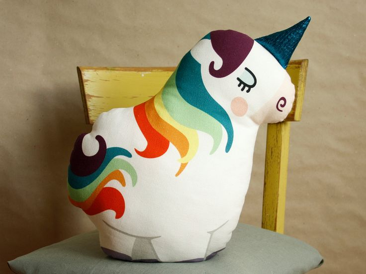 DIY Unicorn cushion crafting unicorn pillow home decoration material set sewing instruction by kaeselotti 34.90 EUR http://ift.tt/1DfuJ14