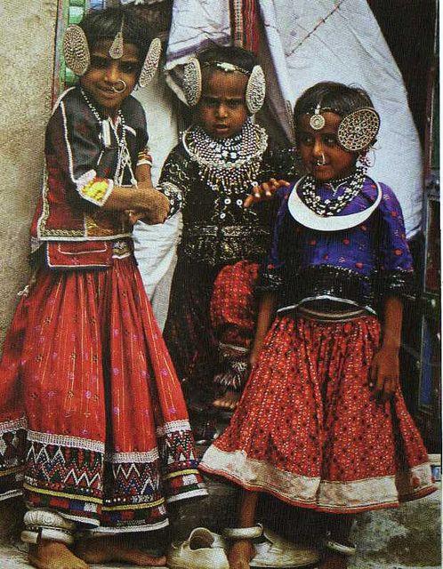 India:  Rabari children