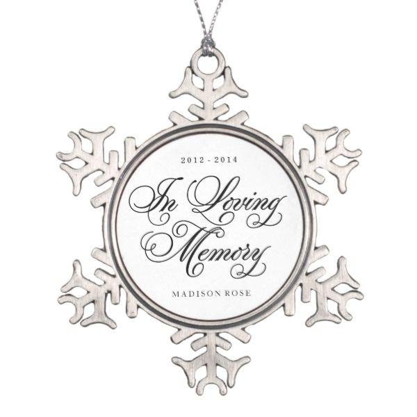 In Loving Memory Ornament Keepsake Zazzle Com Memorial Ornaments How To Make Ornaments Ornament Frame