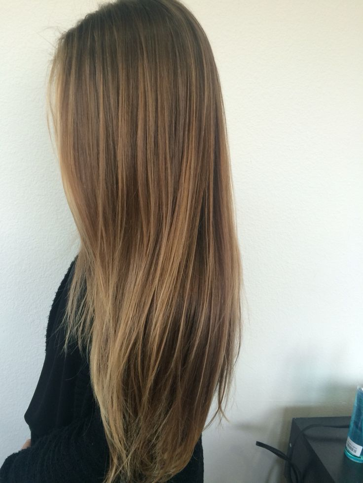 Soft golden natural balyage