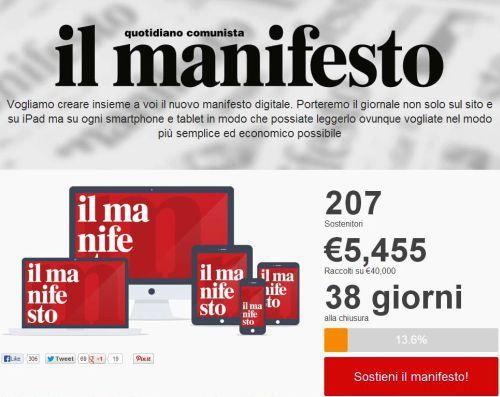Il Manifesto #Crowdfunding @il manifesto