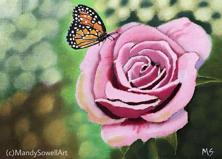 Flourish | Original oil painting | Original Artwork | Floral Painting | Monarch Butterfly |