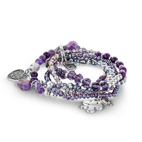 Amethyst Amore Bracelet – Hotsy Totsy