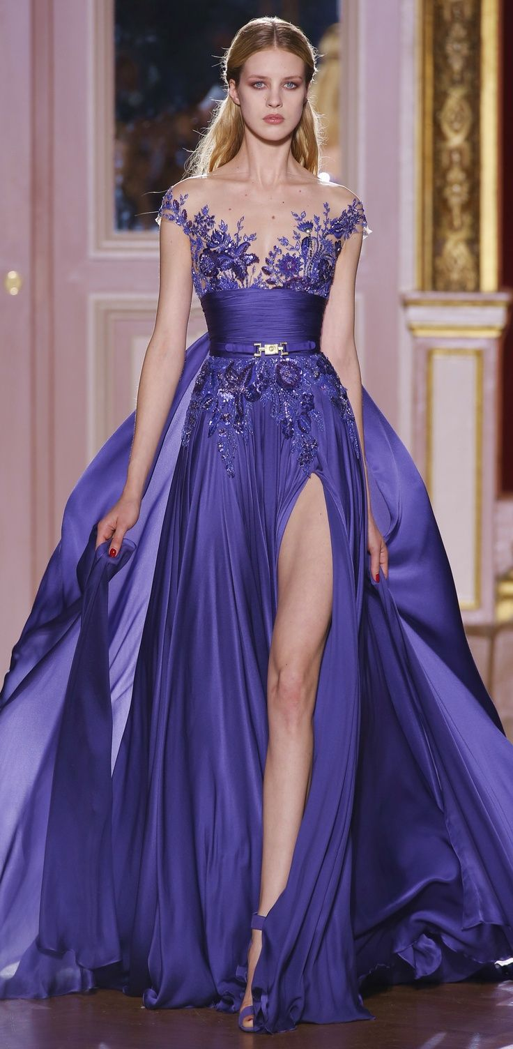 2014 Plus Size Blue See Through Chiffon Long Prom Party Dress ...