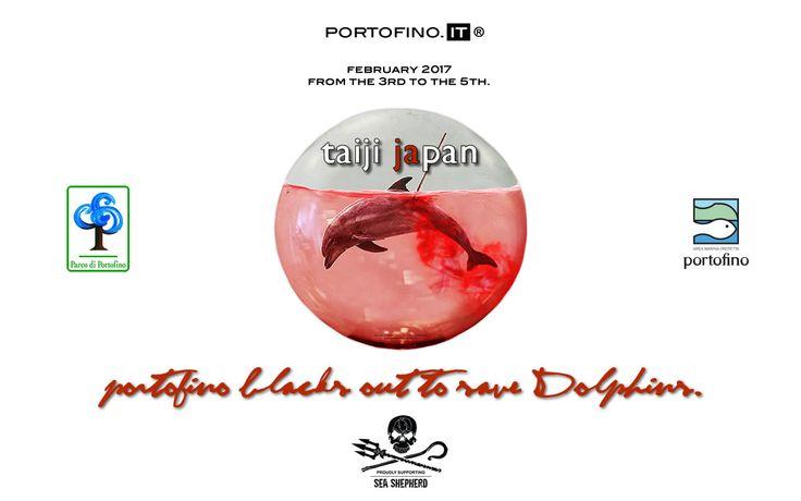 PORTOFINO BLACKS OUT TO SAVE DOLPHINS.  Read here: http://bit.ly/2kto2FS   @seashepherd @japan #tweet4Taiji #closetaiji #ShutTaijiDown
