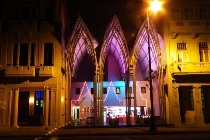 Architect:  Vilma Bartolome, La Abadia coffee shop. On Cuba's New Unacknowledged Architecture