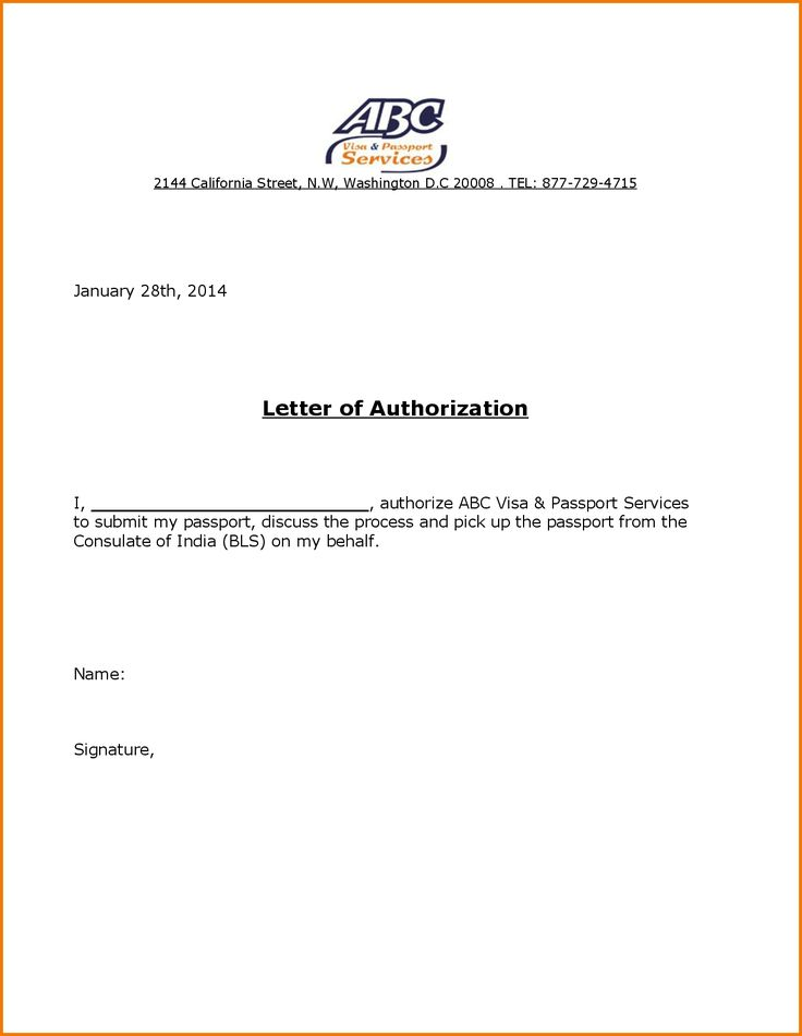 authorization letter for passport pickup pdf how write - letter of authorization form
