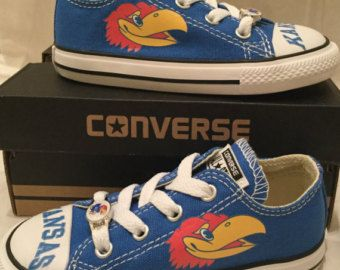 University of Kansas Jayhawks KU Custom Made by PimpMyKickz
