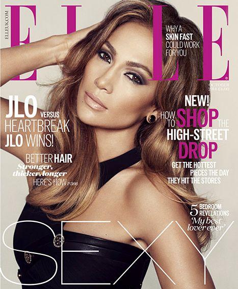 Jennifer Lopez on the October 2014 cover of Elle UK