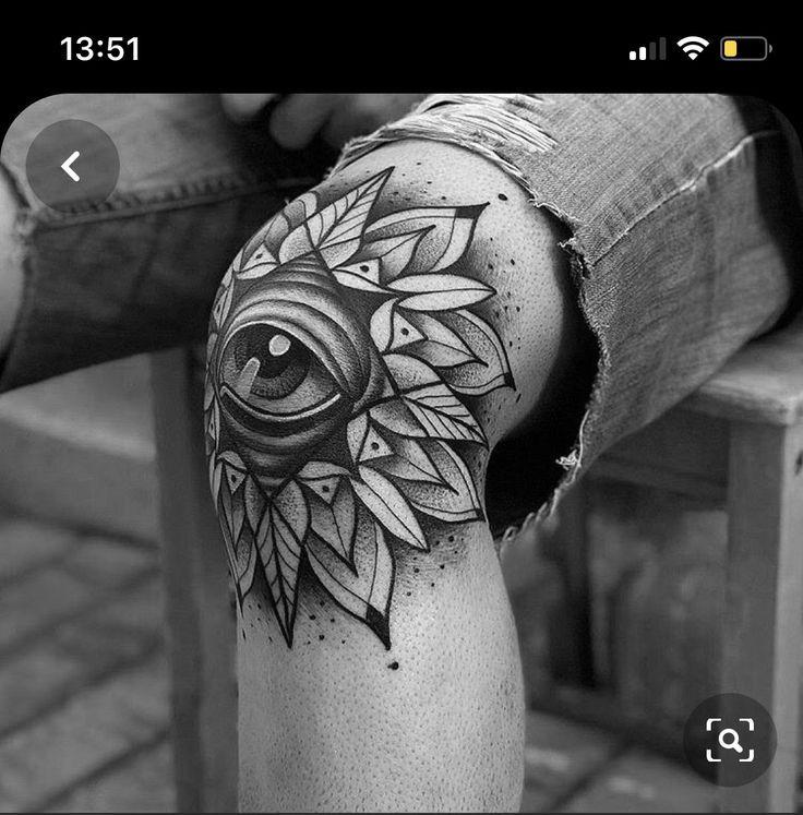 Knee Tattoo Men In 2020 Knee Tattoo Eye Tattoo Neck Tattoo