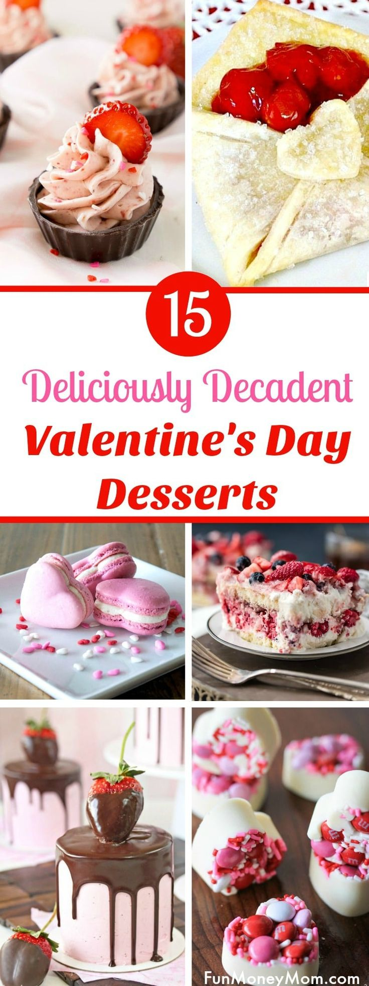 Valentine's Day Desserts - Looking for the perfect Valentine's Day recipes? These Valentine's Desserts are perfect for celebrating. From chocolate hearts to Valentine's Day cakes, you'll love these awesome Valentine's day recipes! #valentinesday #valentinesdaydesserts #desserts
