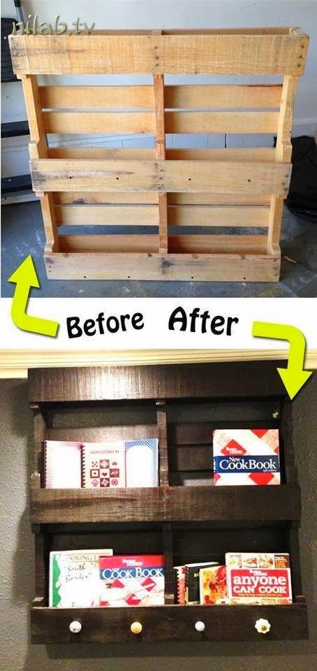 Another creative way to use crates. This could be painted any color that would match your room.
