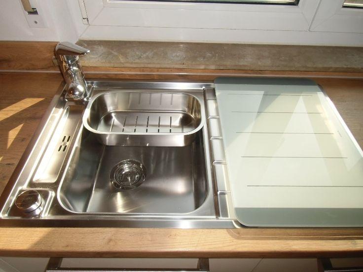 Möbelteile Ballerina Küchen; Küche in Dettingen II #eiche #einbauspüle #magnolie #creme #blanco