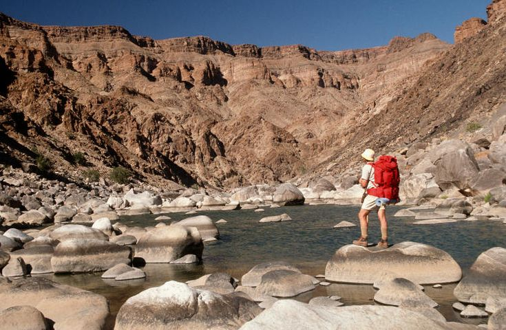 Namibia, the startlingly beautiful Fish River Canyon is 550m deep, 27km wide and 160km long. The intense 85km trail through it, which takes hikers through 1.5 billion years of geological history, is accessible only from May to mid-September