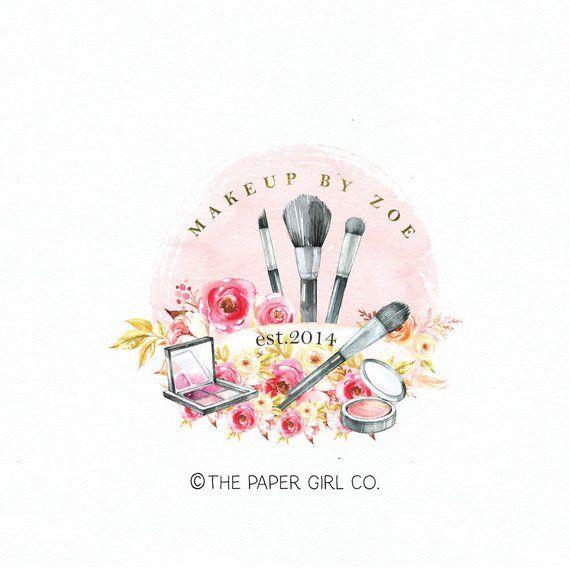 Premade Watercolor Logo Watercolor Badge Logo Business Logo Art