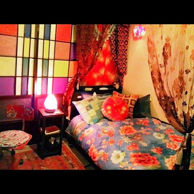 畳/ベッド周り/台湾ランタン/カラフル障子/さくらん/大正ロマン…などのインテリア実例 - 2015-06-17 23:12:44 | RoomClip(ルームクリップ)