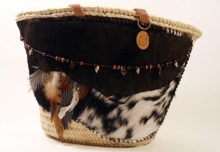Boho shopping / beach bag Brilliant Brown   Ibiza Vibe