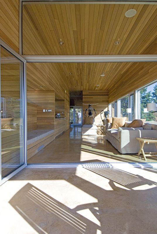 Warm minimalism for serene spa pavilion in Nova Scotia   Designhunter - architecture & design blog