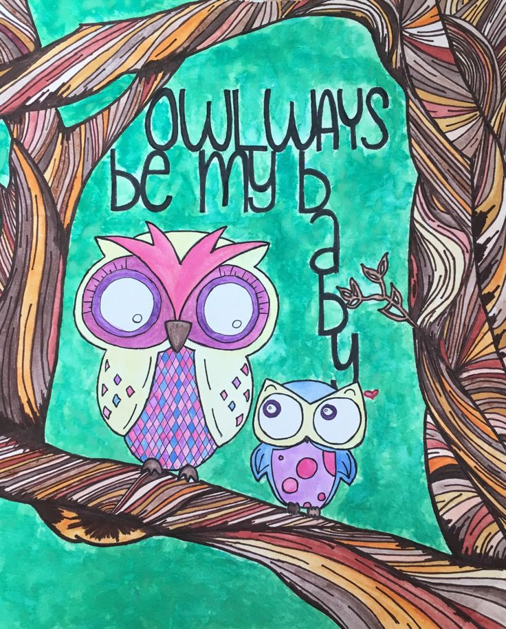 A personal favorite from my Etsy shop https://www.etsy.com/listing/463127025/owlways-be-my-baby-2