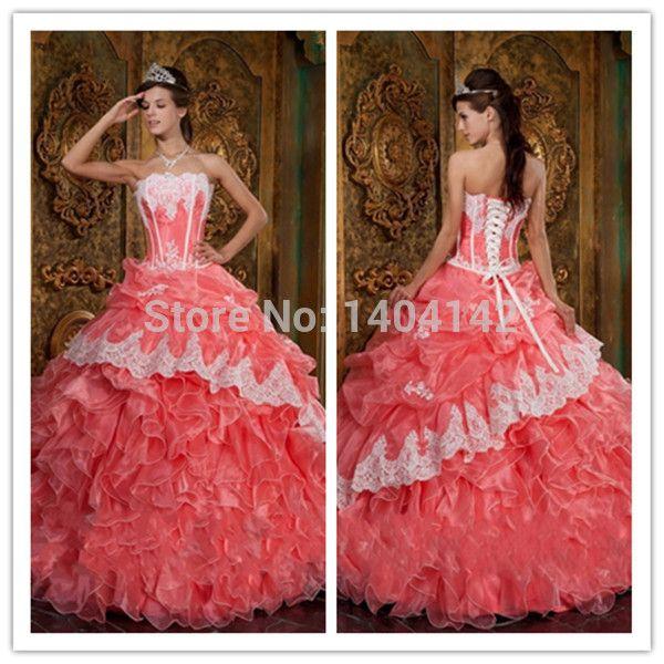 Сладкий 16 обычный бальное платье кружево Purfle минимальный уровень , Quinceanera платья для 15 лет без бретелек шнуровка с оборками складки