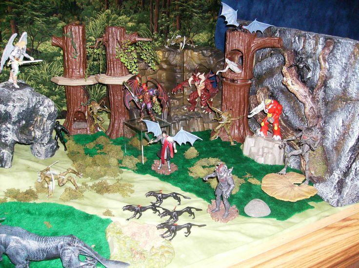 Various demons confront the Archangels.