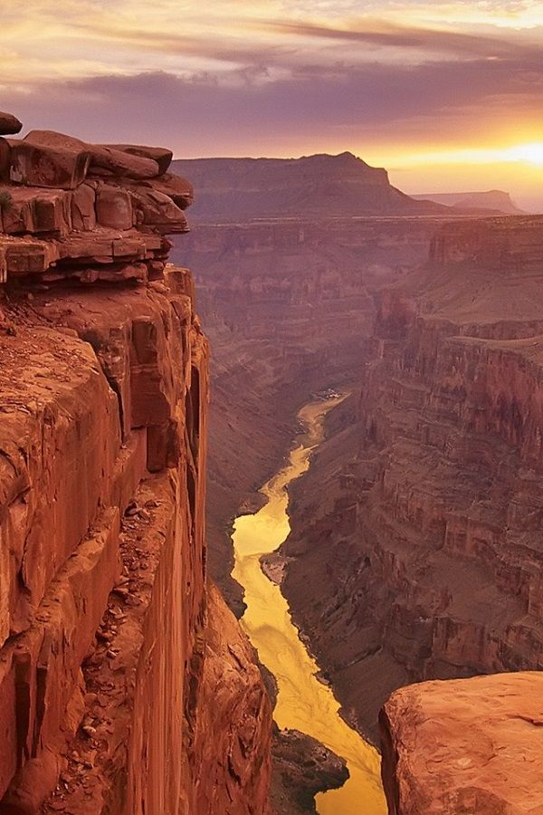 Grand Canyon sunset The Grand Canyon is one of the most spectacular places on Earth, the sunset over the rocks just proves that.