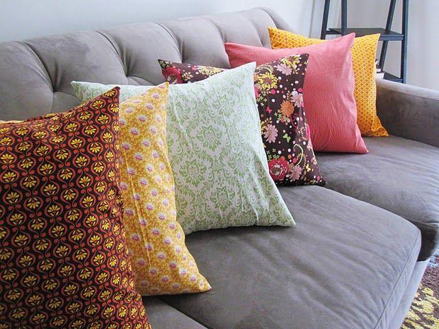 Tutorial: Quick Envelope Pillow Case: Envelope Pillow, Quick Envelope, Pillowcase, Sewing Machine, Pillows