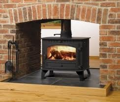 double sided log burner