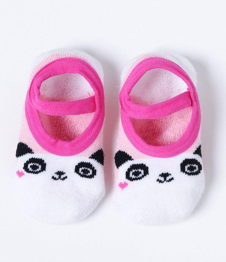 Meia sapatilha infantil  Com estampa  Com antiderrapante  Marca: Accessories    Veja mais opções de    meias infantis   .