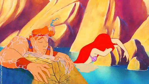 Ariel is the daughter of Triton, son of Poseidon, brother of Zeus, who is the father of Hercules. So Ariel and Hercules are cousins. MIND BLOWN.