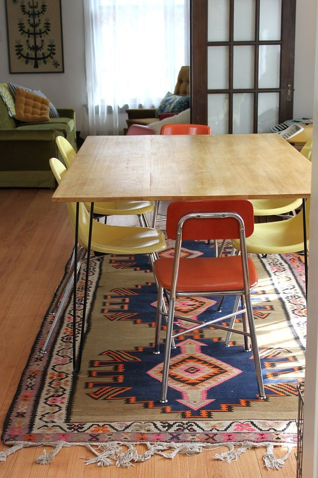 how to build your own tableDining Rooms, Hairpin Tables, Hairpin Legs, Dining Room Tables, Tables Diy, Modern Dining Tables, Diy Hairpin, Legs Tables, Diy Dining