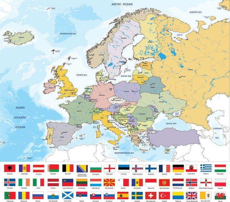 Χάρτης Ευρώπης με σημαίες  http://www.printcenter.com.gr/hartes.html