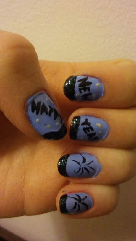 #nails #nailart #happynewyear #newyear #blueblack ✨