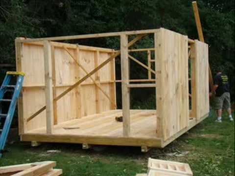 Building a shed in under 2 min! I like the walls in the end product. You could probably do this with pallets to.