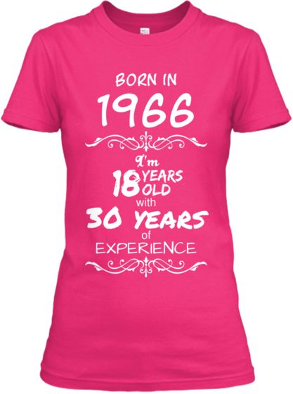 """Born in 1966"" Tees - Limited Edition"