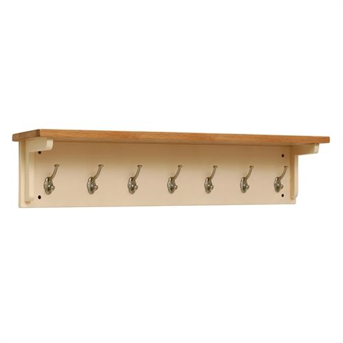 Cheltenham Cream 7-Hook Coat Rack (C427) with Free Delivery | The Cotswold Company - CANB080C