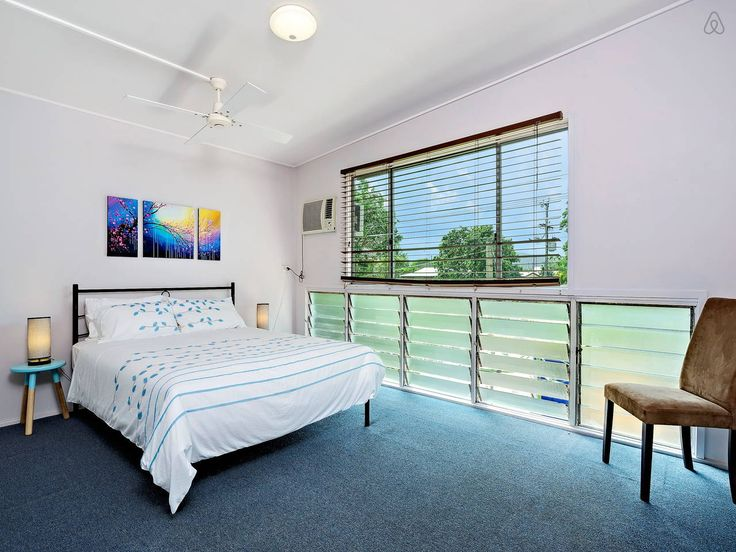 Large air conditioned room with cool breezes, a comfortable queen size bed and good selection of pillows