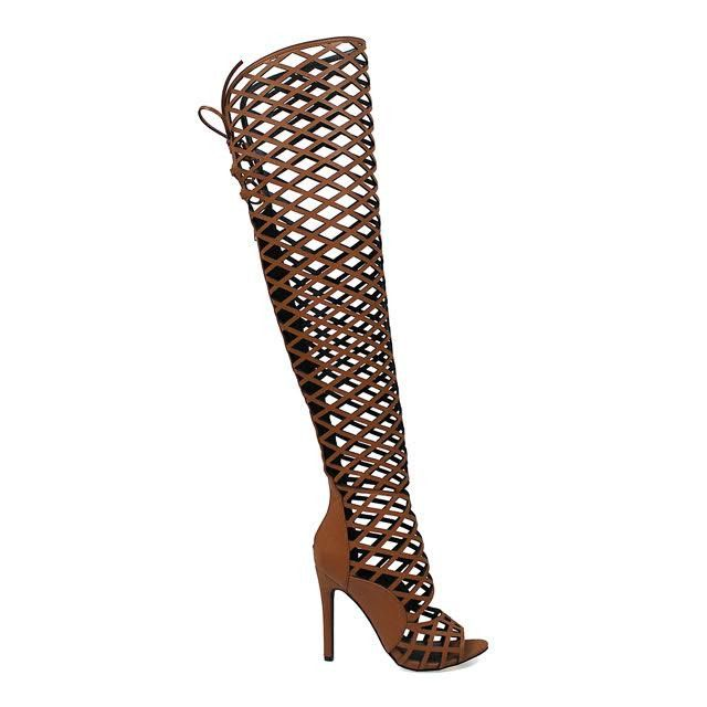 Tan Caged Gladiator Heels | Gladiator Heels, Gladiators and Tans