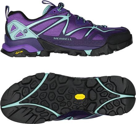 The light, durable and surefooted Capra Sport hiking shoes from Merrell are made for adrenaline-fueled hikes and scrambles.