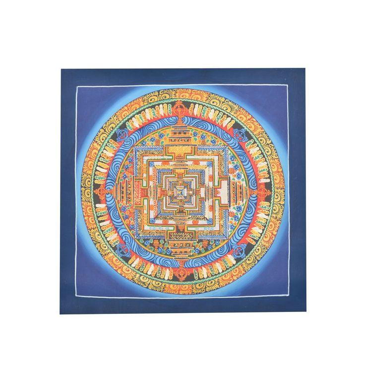 Traditional Tibetan Buddhist The Kalachakra Mandala Thangka Painting Nepalese Art & Paint