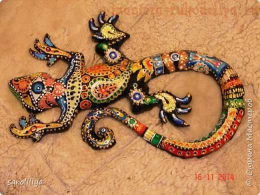 Paper Mache Gecko - step by step Photo tutorial  Bildanleitung