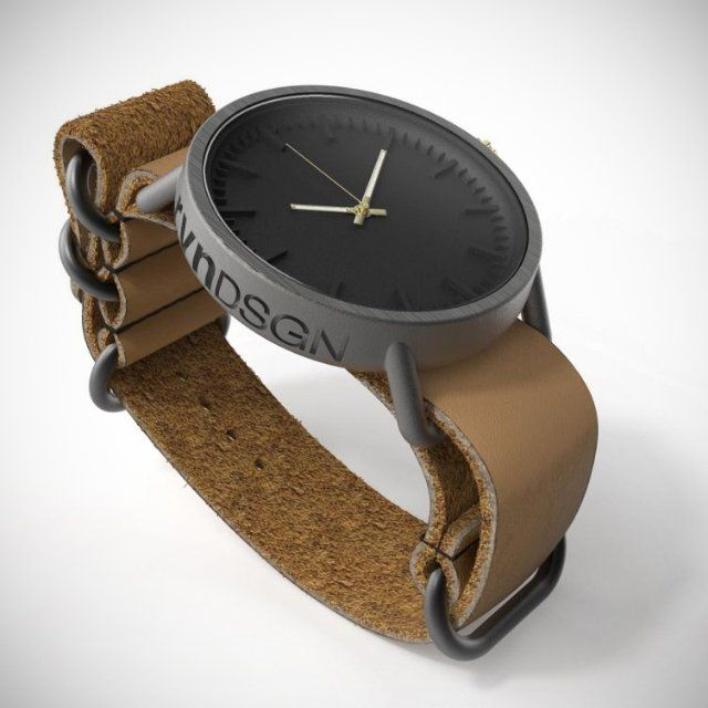 rvnDSGN 3D-Printed Titanium Watch - looks amazing with natural colors while carrying an interesting modern story of its manufacturing process