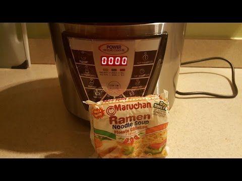 Power Pressure Cooker XL Maruchan Ramen Noodles - YouTube