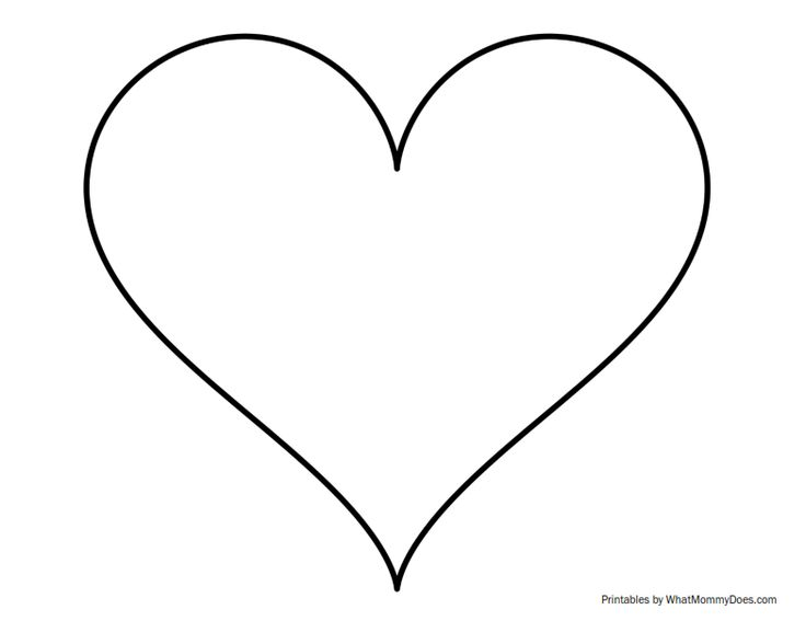 Search results for large heart template printable for Full page heart template