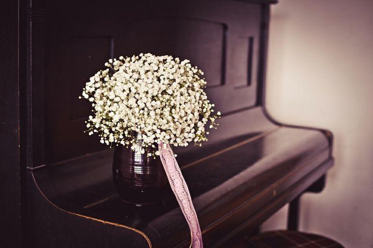 Wedding bouquet gypsophila made by Ka!